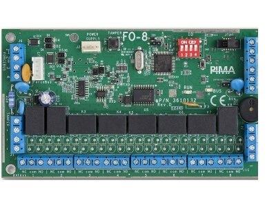 מרחיב 8 יציאות ממסרים להפעלת אביזרי בית חכם למערכת אזעקה פימא FORCE OEX508